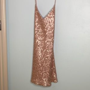 rose gold sequin urban outfitters size small dress
